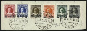 Sale Number 1042, Lot Number 3722, Vatican CityVATICAN CITY, 1934, 40c on 80c-3.70l on 10l Overprints (35-40; Sassone 35-40), VATICAN CITY, 1934, 40c on 80c-3.70l on 10l Overprints (35-40; Sassone 35-40)