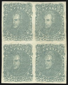 Sale Number 1043, Lot Number 2141, 2c Green Lithograph (Scott 3)2c Green (3), 2c Green (3)