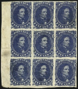 Sale Number 1043, Lot Number 2153, 5c Blue Lithograph (Scott 4)5c Blue, Stone 2 (4), 5c Blue, Stone 2 (4)