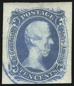 "Sale Number 1043, Lot Number 2218, 10c TEN and 10c Frameline Engraved (Scott 9-10)10c Blue, ""TEN"", Damaged Plate (9 var), 10c Blue, ""TEN"", Damaged Plate (9 var)"