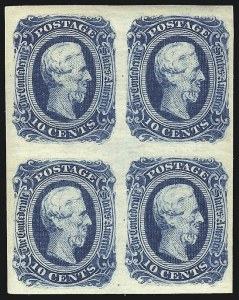 Sale Number 1043, Lot Number 2228, 10c Engraved, Dies A & B Scott (11-12)10c Deep Blue, Die B, Plate Proof on Thick Ribbed Paper (12P7), 10c Deep Blue, Die B, Plate Proof on Thick Ribbed Paper (12P7)
