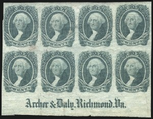 Sale Number 1043, Lot Number 2260, 20c Engraved, 1c Typograph (Scott 13-14) and Group Lots20c Green (13), 20c Green (13)