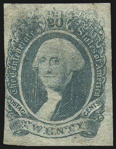 Sale Number 1043, Lot Number 2263, 20c Engraved, 1c Typograph (Scott 13-14) and Group Lots20c Green, Kiss Impression at Top (13), 20c Green, Kiss Impression at Top (13)