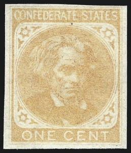 Sale Number 1043, Lot Number 2269, 20c Engraved, 1c Typograph (Scott 13-14) and Group Lots1c Light Yellow Brown, Trial Color Plate Proof on Wove (14TC5), 1c Light Yellow Brown, Trial Color Plate Proof on Wove (14TC5)