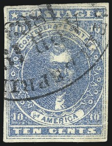 Sale Number 1043, Lot Number 2273, 20c Engraved, 1c Typograph (Scott 13-14) and Group LotsConfederate States Railroad Cancels, Confederate States Railroad Cancels