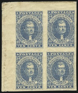 Sale Number 1043, Lot Number 2344, 10c Blue Lithograph Off-Cover (Scott 2b, 2)10c Dark Blue, Hoyer & Ludwig (2b), 10c Dark Blue, Hoyer & Ludwig (2b)