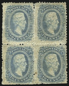 Sale Number 1043, Lot Number 2445, Official and Unofficial Perforations10c Blue, Die A, Perforated (11e), 10c Blue, Die A, Perforated (11e)