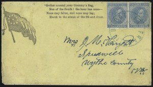 Sale Number 1043, Lot Number 2534, 5c Typographs On-Cover (Scott 6-7)5c Blue, Local (7), 5c Blue, Local (7)