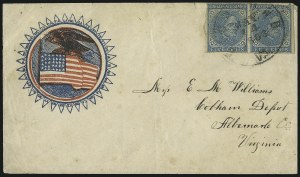 Sale Number 1043, Lot Number 2535, 5c Typographs On-Cover (Scott 6-7)5c Blue, Local (7), 5c Blue, Local (7)
