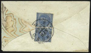 Sale Number 1043, Lot Number 2537, 5c Typographs On-Cover (Scott 6-7)5c Blue, Local (7), 5c Blue, Local (7)