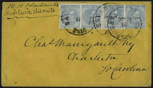 Sale Number 1043, Lot Number 2541, 5c Typographs On-Cover (Scott 6-7)5c Blue, Local (7), 5c Blue, Local (7)