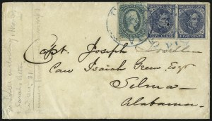 Sale Number 1043, Lot Number 2542, 5c Typographs On-Cover (Scott 6-7)5c Blue, Local (7), 5c Blue, Local (7)
