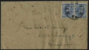 Sale Number 1043, Lot Number 2543, 5c Typographs On-Cover (Scott 6-7)5c Blue, Local (7), 5c Blue, Local (7)
