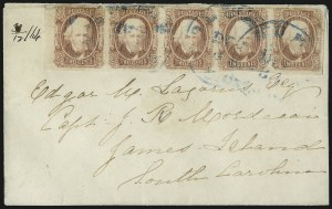 Sale Number 1043, Lot Number 2550, 2c Engraved, 10c TEN and 10c Frameline On-Cover (Scott 8-10)2c Brown Red (8), 2c Brown Red (8)