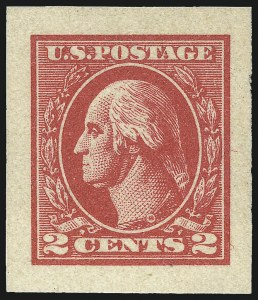 Sale Number 1044, Lot Number 307, 1912-22 Washington-Franklins and Later Issues (Scott 415-634A)2c Carmine, Ty. VII, Imperforate (534B), 2c Carmine, Ty. VII, Imperforate (534B)