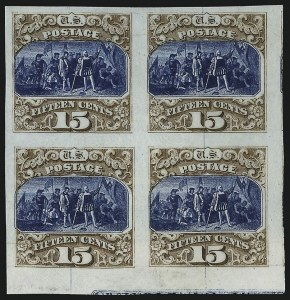Sale Number 1044, Lot Number 58, Essays and Proofs (1869 Issue thru 20th Century)15c Brown & Blue, Ty. III, Plate Proof on India (129P3), 15c Brown & Blue, Ty. III, Plate Proof on India (129P3)