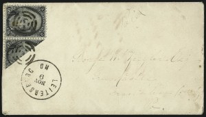 Sale Number 1048, Lot Number 267, 1861-66 Issue, 1867-68 Grilled Issue, 1875 Re-Issue2c Black, Diagonal Half Used as 1c (73a), 2c Black, Diagonal Half Used as 1c (73a)