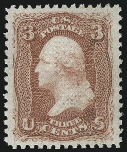 Sale Number 1048, Lot Number 273, 1861-66 Issue, 1867-68 Grilled Issue, 1875 Re-Issue3c Red, F. Grill (94). Mint N.H, 3c Red, F. Grill (94). Mint N.H