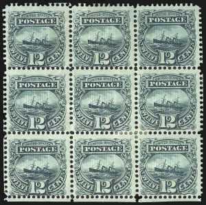 Sale Number 1048, Lot Number 283, 1869 Issue incl. Inverts, 1875 Re-Issue12c Green (117), 12c Green (117)