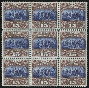Sale Number 1048, Lot Number 284, 1869 Issue incl. Inverts, 1875 Re-Issue15c Brown & Blue, Ty. II (119), 15c Brown & Blue, Ty. II (119)