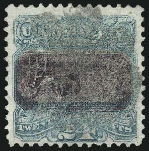 Sale Number 1048, Lot Number 288, 1869 Issue incl. Inverts, 1875 Re-Issue24c Green & Violet, Center Inverted (120b), 24c Green & Violet, Center Inverted (120b)