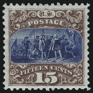 Sale Number 1048, Lot Number 295, 1869 Issue incl. Inverts, 1875 Re-Issue15c Brown & Blue, Re-Issue (129), 15c Brown & Blue, Re-Issue (129)