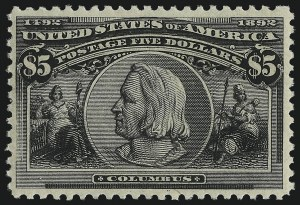 Sale Number 1048, Lot Number 318, 1893 Columbian Issue$5.00 Columbian (245), $5.00 Columbian (245)