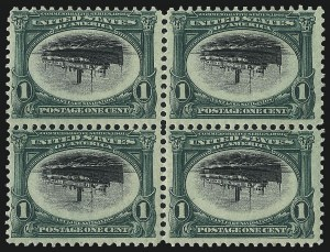 Sale Number 1048, Lot Number 338, 1901 Pan-American Issue1c Pan-American, Center Inverted (294a), 1c Pan-American, Center Inverted (294a)