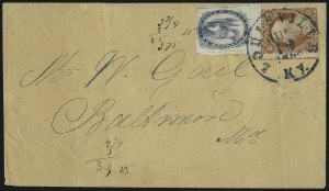 Sale Number 1048, Lot Number 399, Carriers and Locals incl. Pony ExpressBrown & McGill's U.S.P.O. Despatch, Louisville Ky., (2c) Blue (5LB2), Brown & McGill's U.S.P.O. Despatch, Louisville Ky., (2c) Blue (5LB2)