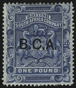 Sale Number 1049, Lot Number 1038, Bermuda thru British Columbia and Vancouver IslandBRITISH CENTRAL AFRICA, 1891, £1 Blue (14; SG 14), BRITISH CENTRAL AFRICA, 1891, £1 Blue (14; SG 14)