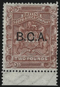 Sale Number 1049, Lot Number 1039, Bermuda thru British Columbia and Vancouver IslandBRITISH CENTRAL AFRICA, 1891, £2 Rose Red (15; SG 15), BRITISH CENTRAL AFRICA, 1891, £2 Rose Red (15; SG 15)