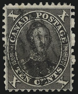 Sale Number 1049, Lot Number 1079, Canada CANADA, 1859, 10c Black Brown (16; SG 33), CANADA, 1859, 10c Black Brown (16; SG 33)