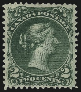 Sale Number 1049, Lot Number 1081, Canada CANADA, 1868, 2c Green, Thin Paper (24b; SG 48), CANADA, 1868, 2c Green, Thin Paper (24b; SG 48)