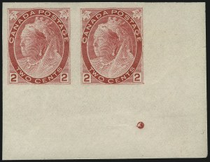 Sale Number 1049, Lot Number 1085, Canada CANADA, 1898, 2c Carmine, Type I, Imperforate (77c; SG 155a), CANADA, 1898, 2c Carmine, Type I, Imperforate (77c; SG 155a)