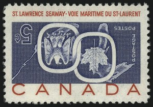 Sale Number 1049, Lot Number 1090, Canada CANADA, 1959, 5c Seaway Invert (387a; SG 513a), CANADA, 1959, 5c Seaway Invert (387a; SG 513a)