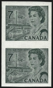 Sale Number 1049, Lot Number 1091, Canada CANADA, 1971, 7c Transportation Means, Imperforate Pair (549a; SG 596a), CANADA, 1971, 7c Transportation Means, Imperforate Pair (549a; SG 596a)