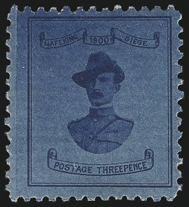 Sale Number 1049, Lot Number 1109, Cape of Good Hope incl. Mafeking and VryburgCAPE OF GOOD HOPE, MAFEKING, 1900, 3p Blue on Blue, Baden-Powell (179; SG 20), CAPE OF GOOD HOPE, MAFEKING, 1900, 3p Blue on Blue, Baden-Powell (179; SG 20)