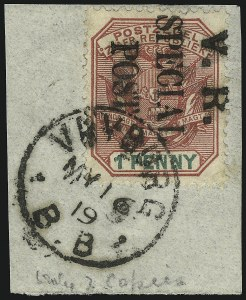 Sale Number 1049, Lot Number 1111, Cape of Good Hope incl. Mafeking and VryburgCAPE OF GOOD HOPE, VRYBURG, 1900, 1p Rose & Green (N6; SG 12), CAPE OF GOOD HOPE, VRYBURG, 1900, 1p Rose & Green (N6; SG 12)