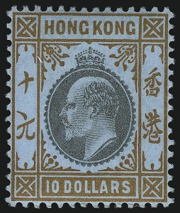 Sale Number 1049, Lot Number 1176, Hong KongHONG KONG, 1903, $10.00 Orange & Black (85; SG 76), HONG KONG, 1903, $10.00 Orange & Black (85; SG 76)