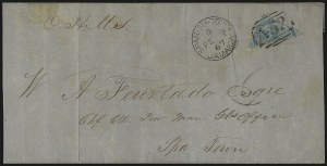 Sale Number 1049, Lot Number 1206, JamaicaJAMAICA, 1860, 1p Blue, Diagonal Half Used as -1/2p (1a), JAMAICA, 1860, 1p Blue, Diagonal Half Used as -1/2p (1a)