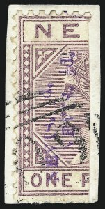 Sale Number 1049, Lot Number 1327, Montserrat thru New BritainNEVIS, 1883, -1/2p on Half of 1p, Double Violet Surcharge (32a; SG 35a), NEVIS, 1883, -1/2p on Half of 1p, Double Violet Surcharge (32a; SG 35a)