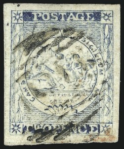 Sale Number 1049, Lot Number 1362, New South WalesNEW SOUTH WALES, 1851, 2p Prussian Blue on Laid Paper, Plate IV, No Clouds (7k; SG 35c), NEW SOUTH WALES, 1851, 2p Prussian Blue on Laid Paper, Plate IV, No Clouds (7k; SG 35c)