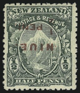 Sale Number 1049, Lot Number 1408, Niger Coast Protectorate thru NiueNIUE, 1902, -1/2p Green, Inverted Surcharge (3a; SG 3b), NIUE, 1902, -1/2p Green, Inverted Surcharge (3a; SG 3b)