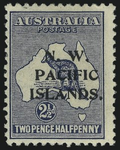 Sale Number 1049, Lot Number 1426, North West Pacific Islands thru QueenslandNORTH WEST PACIFIC ISLANDS, 1916, 2-1/2p Dark Blue, Watermarked Wide Crown and Narrow A (14; SG 87), NORTH WEST PACIFIC ISLANDS, 1916, 2-1/2p Dark Blue, Watermarked Wide Crown and Narrow A (14; SG 87)