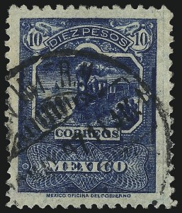 Sale Number 1049, Lot Number 2004, Mexico MEXICO, 1896-97, 10p Deep Blue (268), MEXICO, 1896-97, 10p Deep Blue (268)
