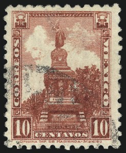 Sale Number 1049, Lot Number 2010, Mexico MEXICO, 1936, 10c Brown Lake (727A), MEXICO, 1936, 10c Brown Lake (727A)