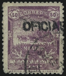 Sale Number 1049, Lot Number 2016, Mexico MEXICO, 1895, 50c Purple, Official (O29A), MEXICO, 1895, 50c Purple, Official (O29A)