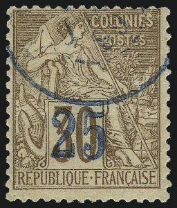 Sale Number 1049, Lot Number 2036, Nossi-BeNOSSI-BE, 1889, 25c on 30c Brown (8; Yvert 5), NOSSI-BE, 1889, 25c on 30c Brown (8; Yvert 5)