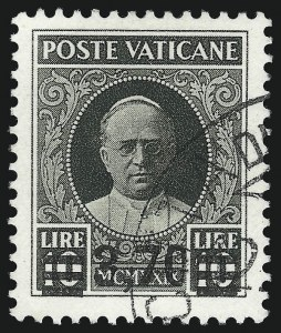 Sale Number 1049, Lot Number 2196, Tibet thru Vatican CityVATICAN CITY, 1934, 40c on 80c-3.70l on 10l Overprints (35-40; Sassone 35-40), VATICAN CITY, 1934, 40c on 80c-3.70l on 10l Overprints (35-40; Sassone 35-40)