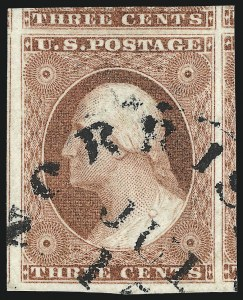 Sale Number 1050, Lot Number 103, 3c-12c 1851-56 Issue (Scott 10-17)3c Dull Red, Ty. II (11A), 3c Dull Red, Ty. II (11A)